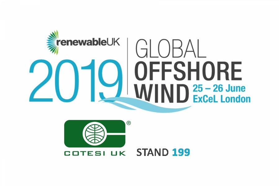 Cotesi will attend at Global Offshore Wind 2019!